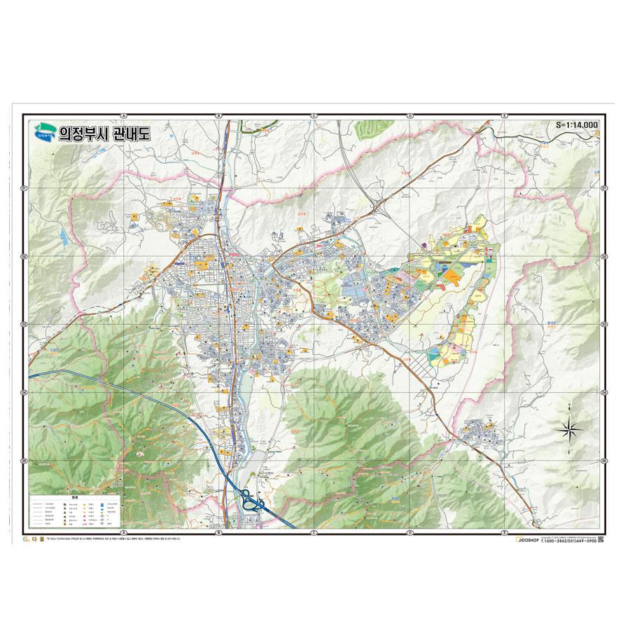 경기도 의정부시 지도 210cm X 155cm
