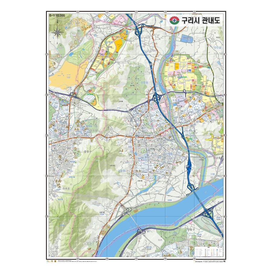경기도 구리시 지도 210cm X 155cm