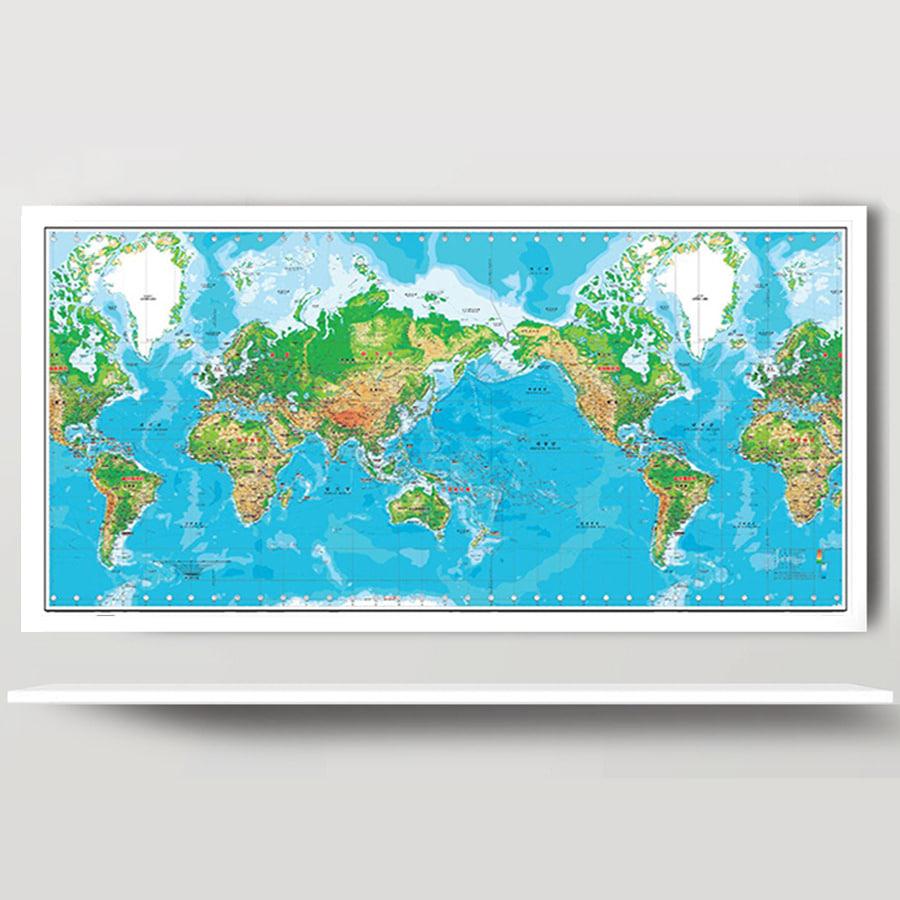 세계지도 K-지세 2000 (小) 코팅형 150m x 75cm