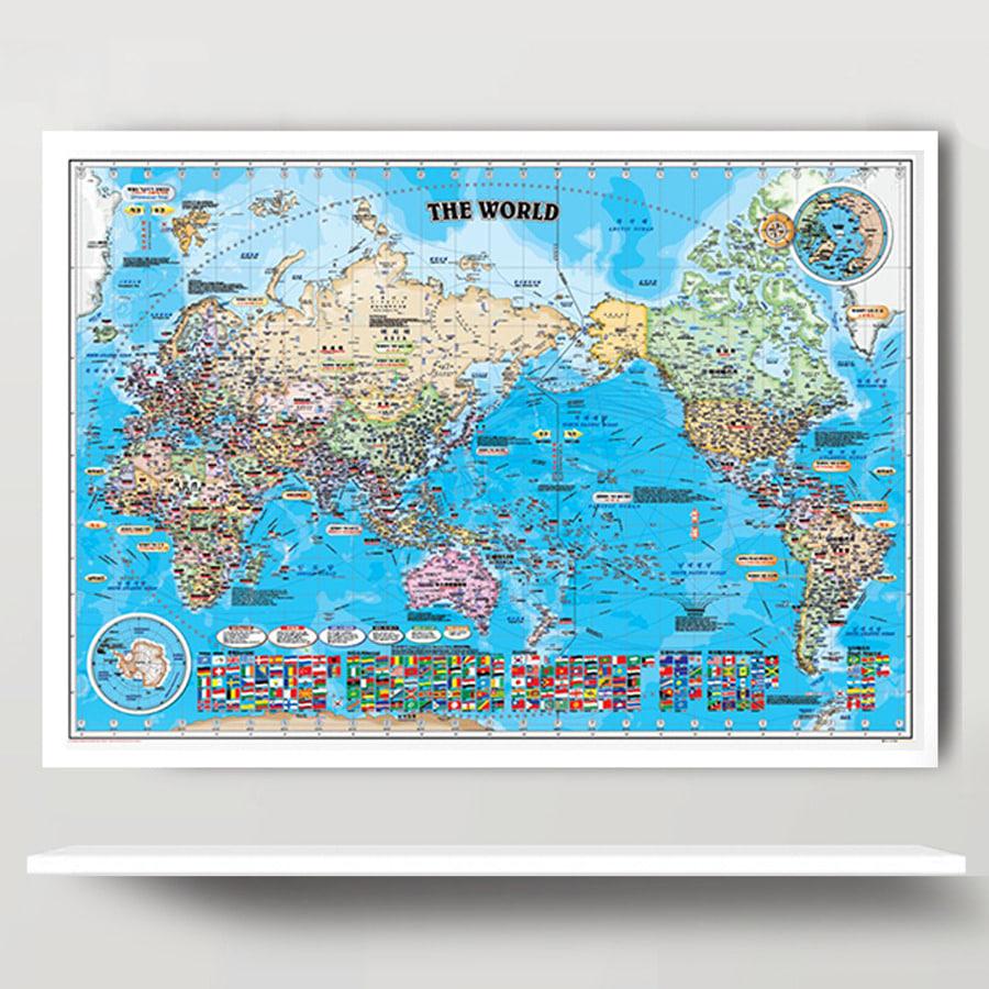 세계지도 책키맵키-BU(小)-코팅형 108cm x 78cm