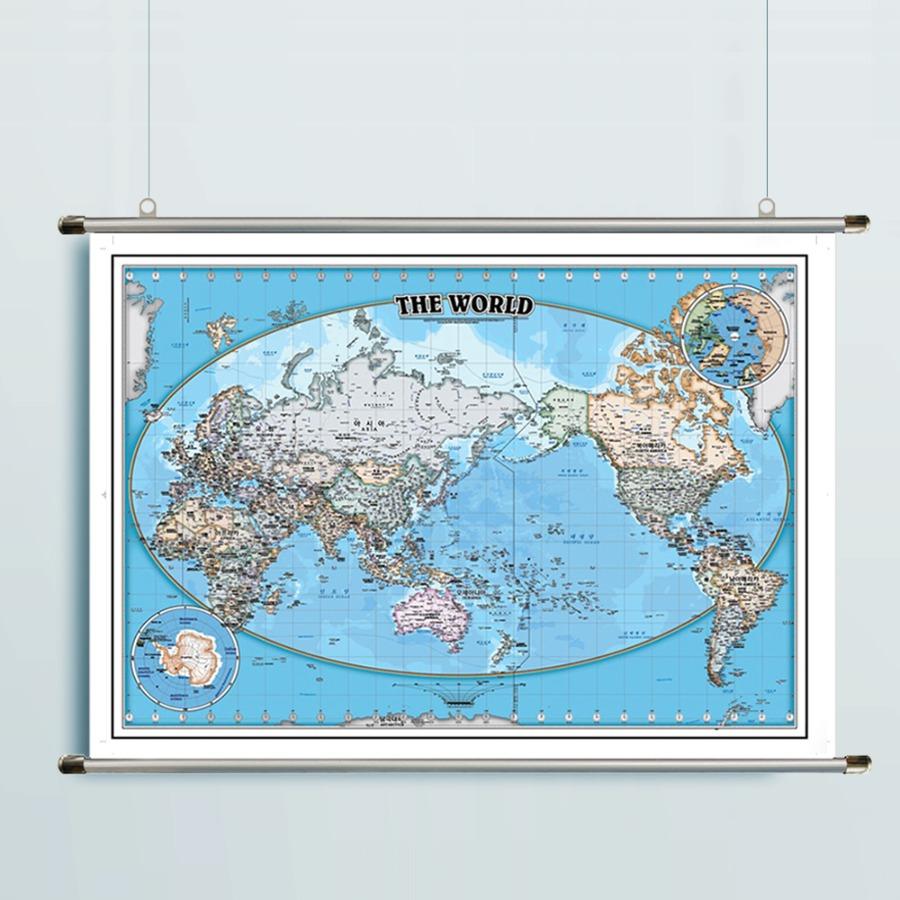 세계지도 D-BLUE(小)-코팅형 108cm x 78cm 족자