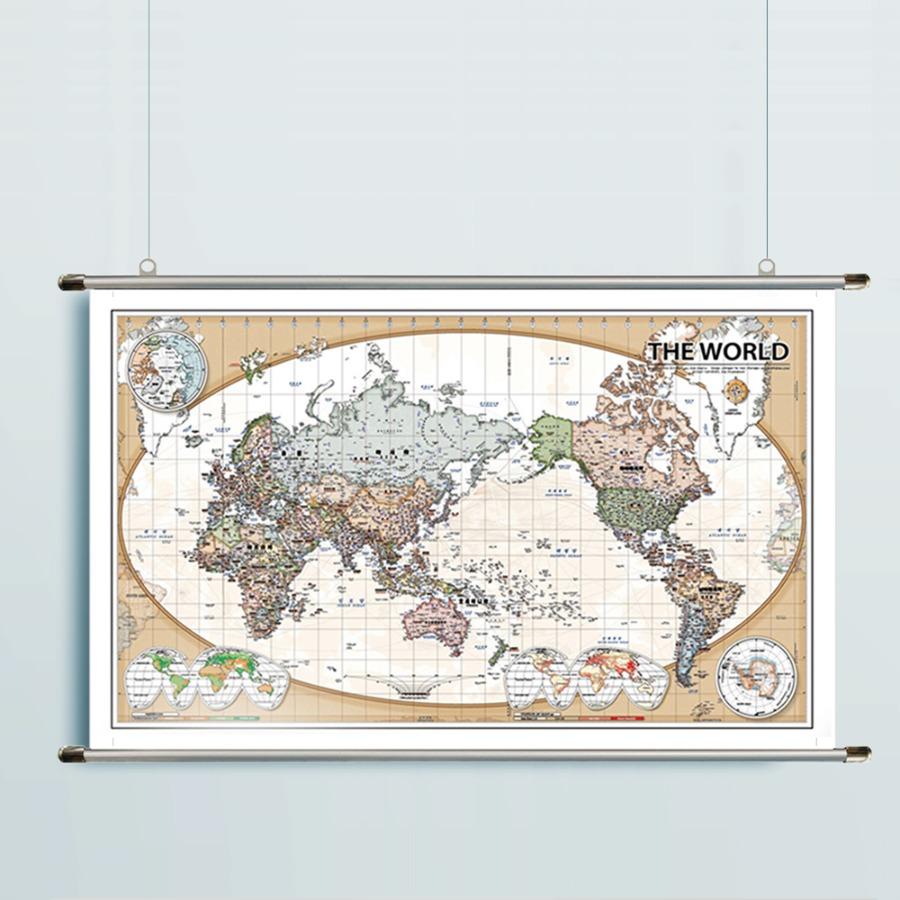 세계지도 CLASSIC-1618(中)-코팅형 162cm x 100cm 족자