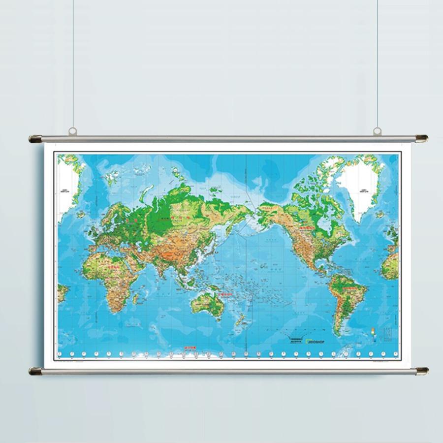 세계지도 K-지세  1618 (小)-코팅형 126cm x 78cm 족자