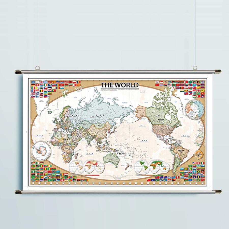 세계지도 CLASSIC-1618 만국기 (S小)-코팅형 108cm x 67 cm 족자