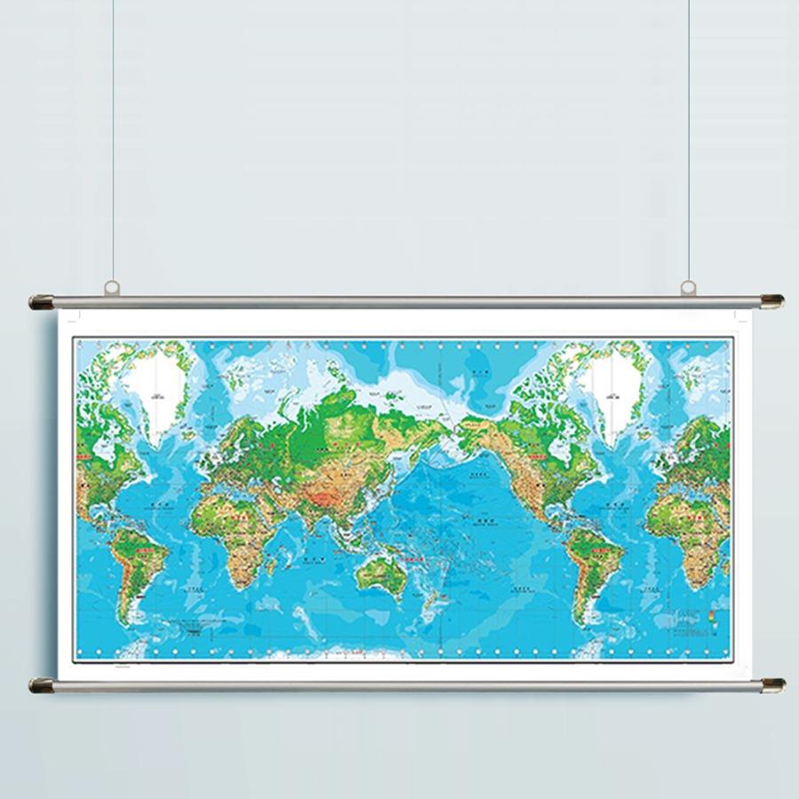 세계지도 K-지세 2000(小)-코팅형 150m x 75cm 족자