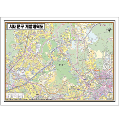 서울시 서대문구 개발계획도.지도