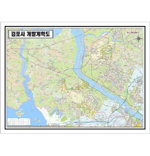 경기도 김포시 개발계획도.지도