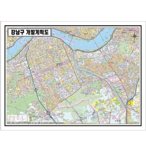 서울시 강남구 개발계획도.지도