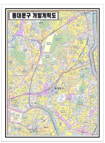 서울시 동대문구 개발계획도.지도