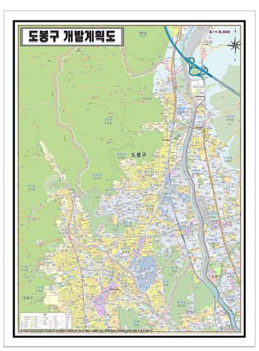 서울시 도봉구 개발계획도.지도