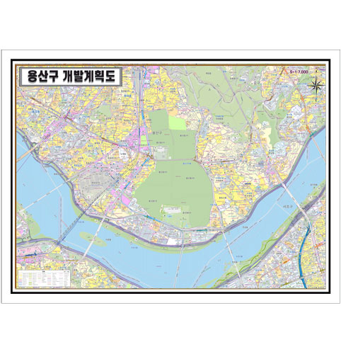 서울시 용산구 개발계획도.지도