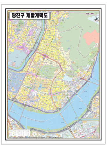 서울시 광진구 개발계획도.지도