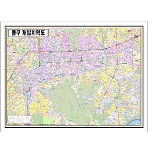 서울시 중구 개발계획도.지도