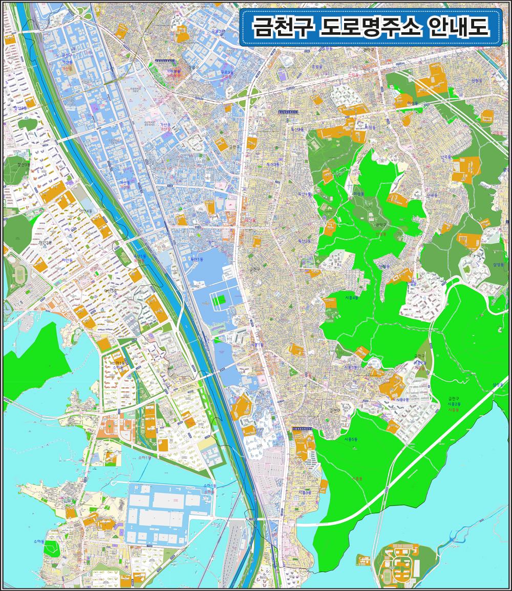 서울시 금천구 도로명주소 지도