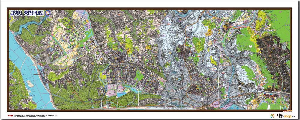 경기도 고양시,파주시 개발계획 안내도.지도