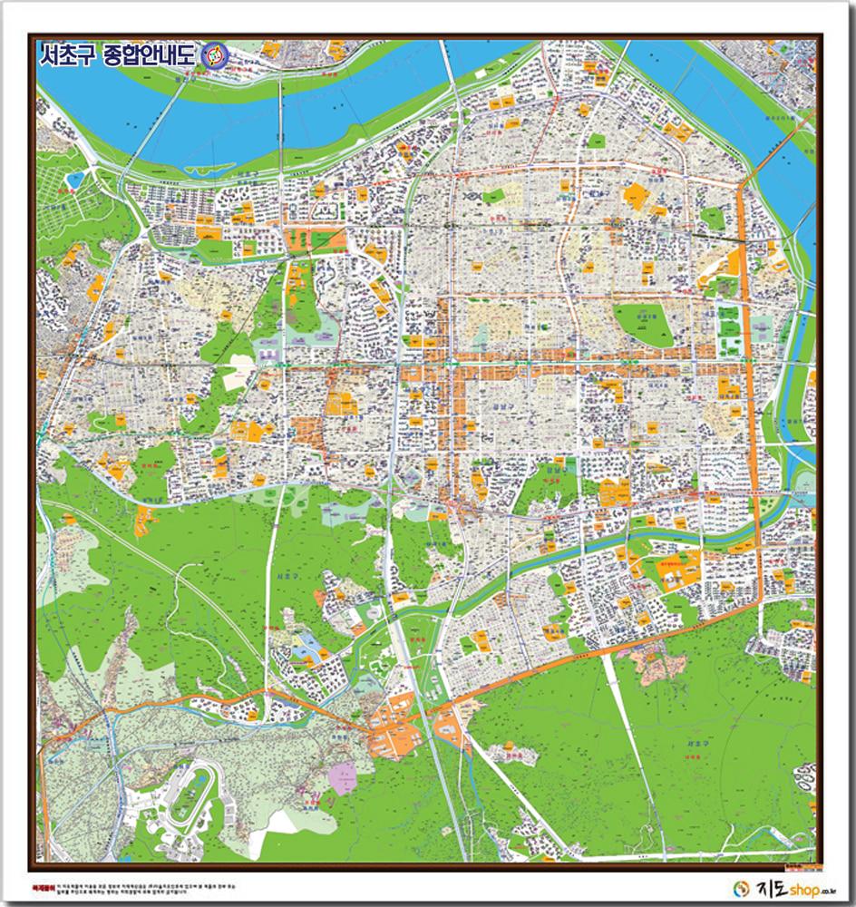 서초구종합안내도.지도[150cm*155cm] 종이코팅