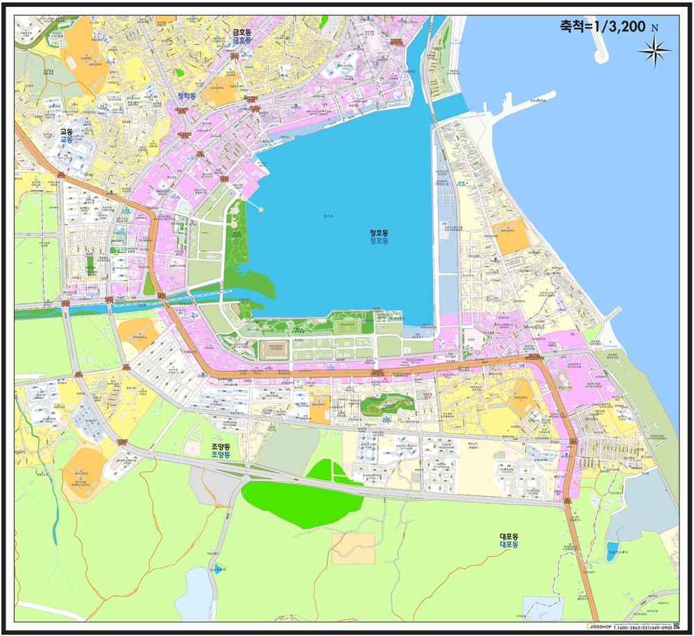 강원도 속초시 청호동 중심 도로명주소 지도